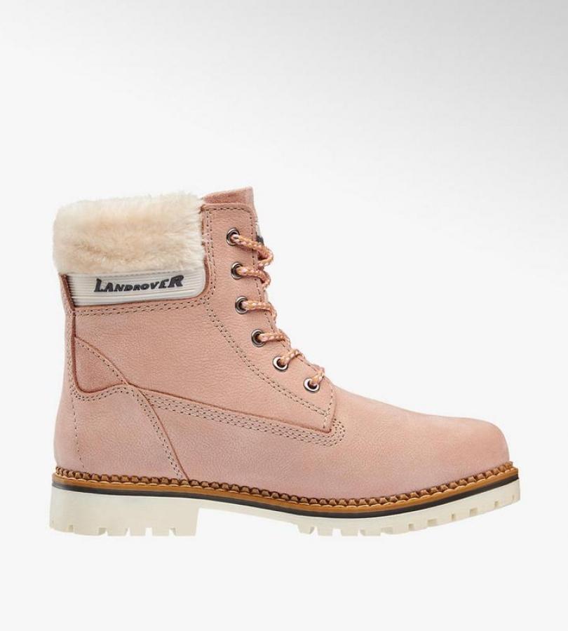 Купить онлайн Кожаные зимние ботинки на шнуровке