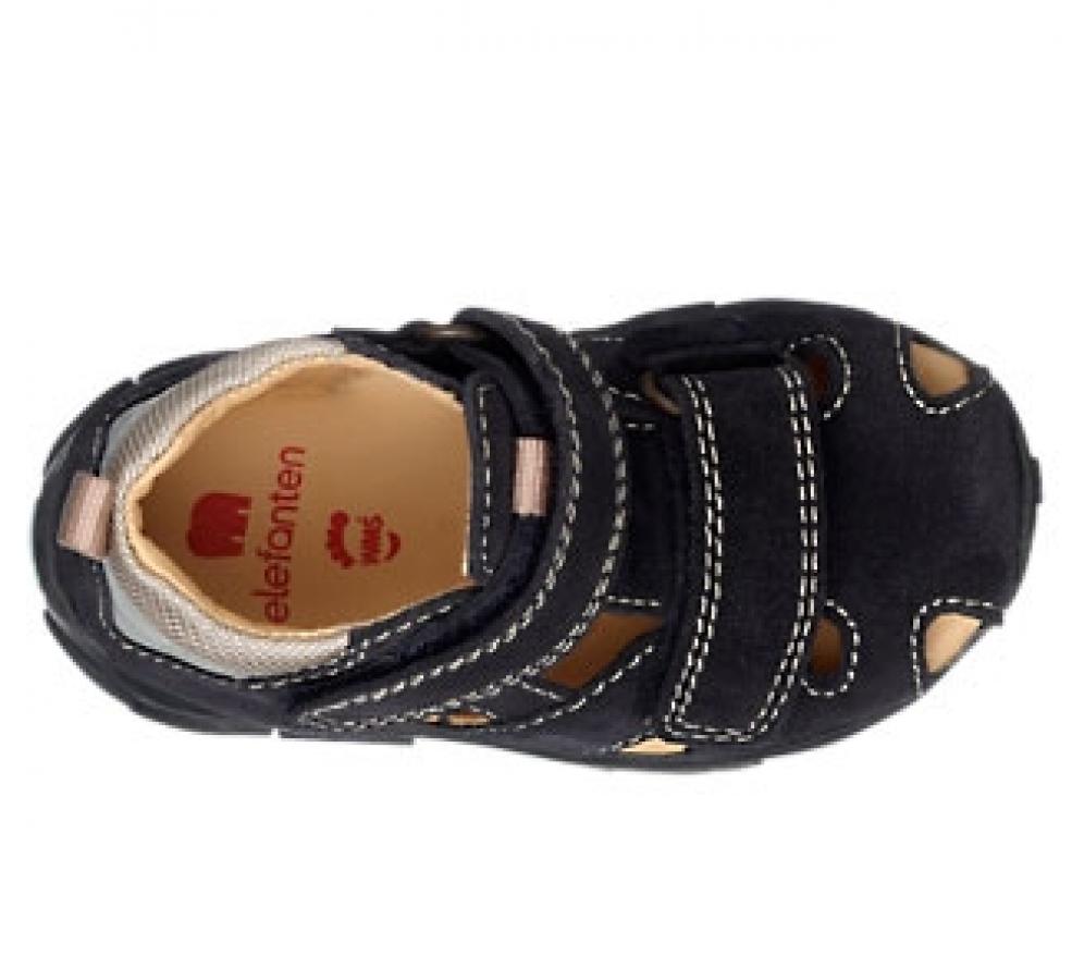 Купить онлайн Elefanten кожаные сандалики на липучке