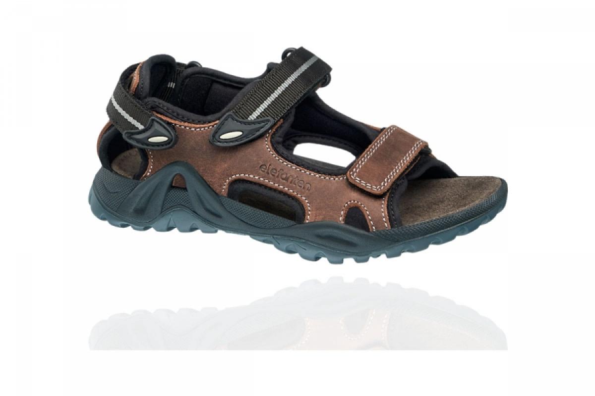 Купить онлайн Elefanten кожаные сандали на липучках