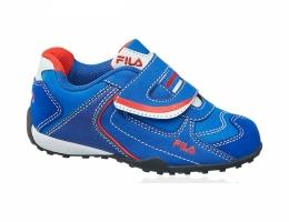 Кроссовки  Fila синие с оригинальной липучкой