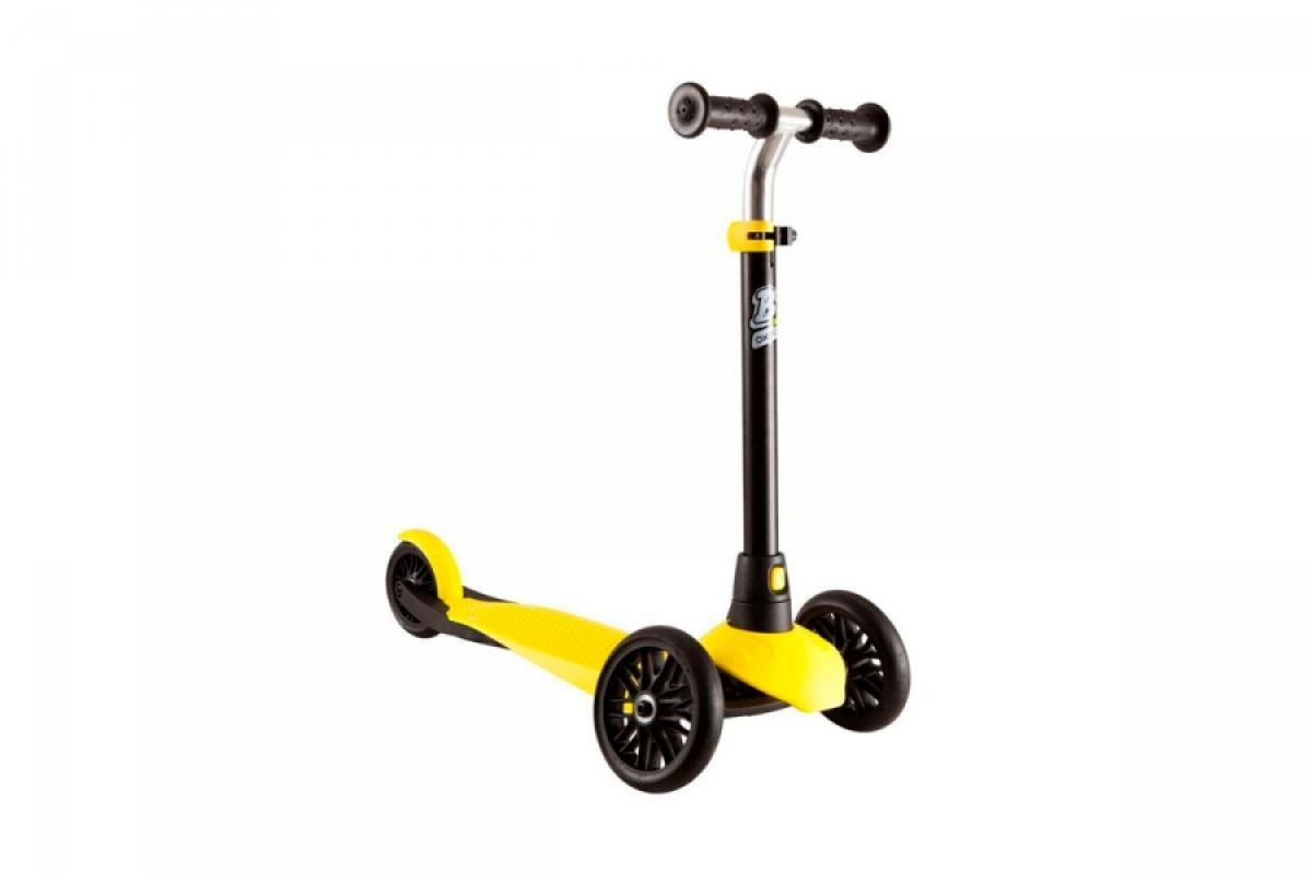Купить онлайн Самокат OXELO B1 (черный) + желтая накладка