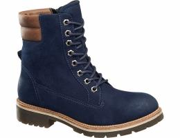 Синего цвета ботинки на шнуровке