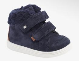 Утеплённые кожаные ботинки